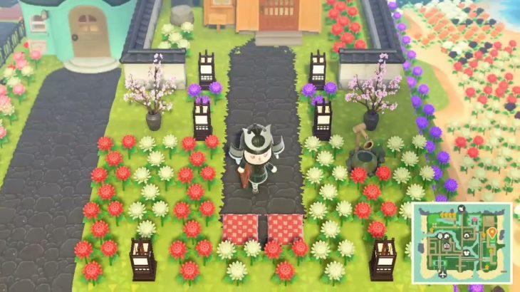 ACNH: Kabuki's Japanese yard (with mums) 🏯
