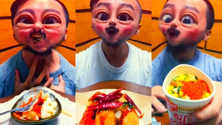 Hot spicy Noodle Challenge🔥Japanese food takoyaki🤣🤣Funny videos of stupid ways to eat | Childish guy